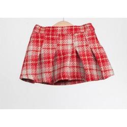 Falda cuadros rojos niña de Fina Ejerique