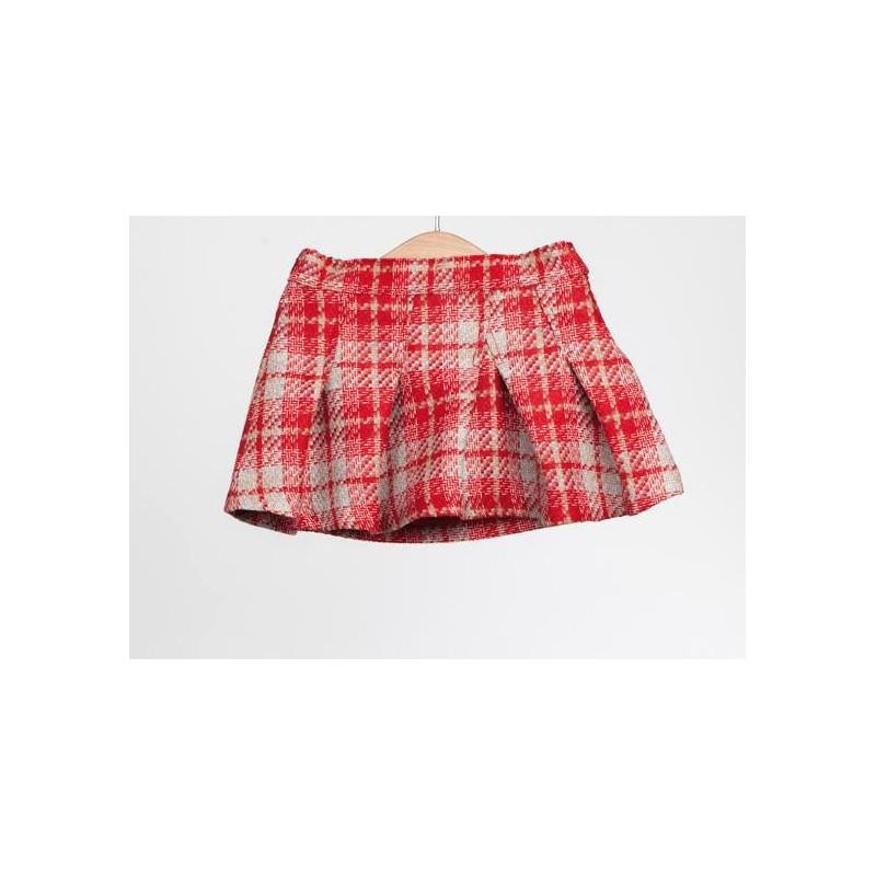 086d38de3 Falda Cuadros Rojos - Moda infantil - Ropa de niña – Nico y Nicoletta