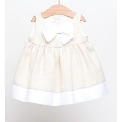 Vestido beige bebe niña de Fina Ejerique
