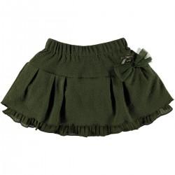 Falda verde niña de Le Chic